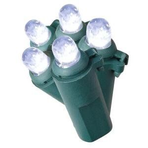 LED Cool White Christmas Lights, 50 Bulbs