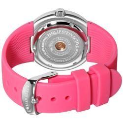 Philip Stein Womens Active Pink Rubber Strap Watch