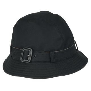 Burberry Cotton Black Belted Bucket Hat