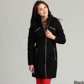 Miss Sixty Womens Wool Hooded Coat