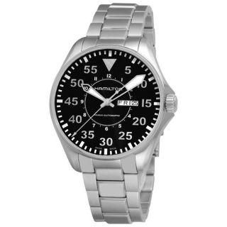 Hamilton Mens Khaki King Pilot Stainless Steel Automatic Watch