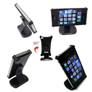 Deluxe Apple iPhone 4 Rotating Multi view Desk Stand