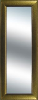 Goldtone Grooved Frame Long Wall Mirror