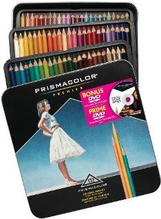 with Instructional DVD, 132 Colored Pencils (1795197) Office Products