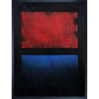 Mark Rothko No. 14 (Red, Blue over Black) Hand painted Framed Canvas