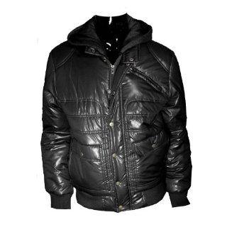 Guess Dash Hood Puffy Jacket Mens (Black, XL) Sports