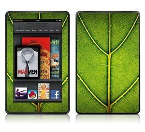 COSMOS ® 135 Green Leaf pattern Skin Decal for Kindle