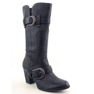 BORN Yolanda Boots Calf Shoes Black Womens