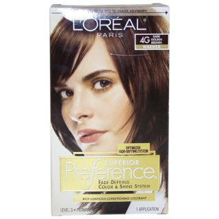 Oreal Superior Preference Fade Defying # 4G Dark Golden Brown Warmer