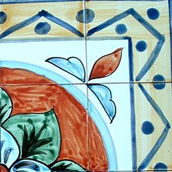 Hand painted Mosaic Ceramic Tiles (Set of 16)