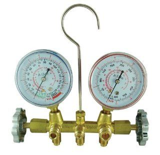 FJC 6715 R134a Brass Manifold Gauge Ses wih 72 Hose