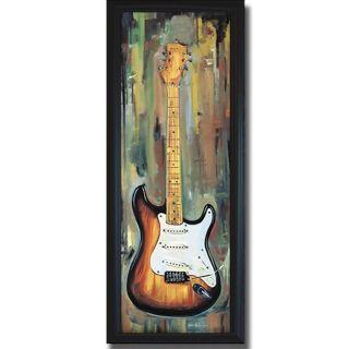 Jill Barton Electric Guitar III Framed Canvas Art