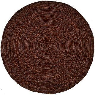 Hand woven Brown Braided Jute Rug (8 Round)