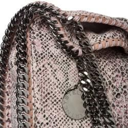 Stella McCartney Falabella Python Printed Canvas Tote Bag