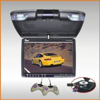 Tview T137dvfdbk 13 Black Widescreen Flip Down Lcd Car Monitor W/dvd