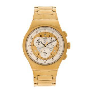 Swatch Mens YOG100G Golden Chest Watch