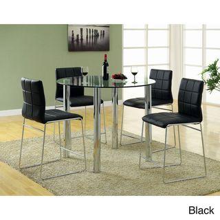 Donnabella 5 piece High gloss Counter Height Dining Set