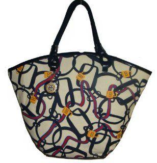 Tommy Hilfiger Large Tote Handbag (White/Navy/Gold/Red/Blue) Shoes