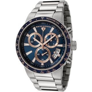Swiss Legend Mens Endurance Stainless Steel Chronograph Watch