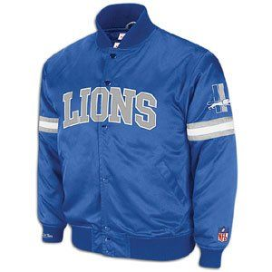 Detroit Lions Mitchell & Ness Backup Satin Jacket
