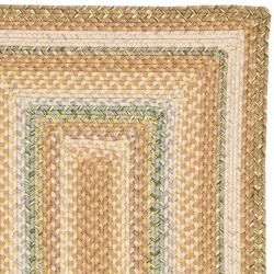 Hand woven Country Living Reversible Tan Braided Rug (23 x 12