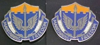 137th Aviation Regiment Distinctive Unit Insignia   Pair