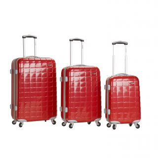 red 3 piece hardside spinner luggage set msrp $ 480 00 today $ 160 00
