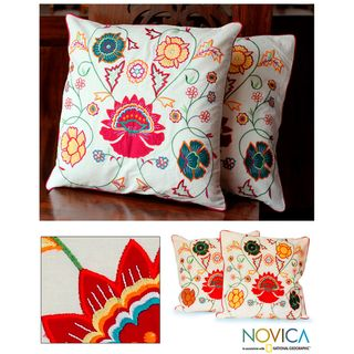 Cotton Eternal Spring Cushion Covers (Set of 2) (India)