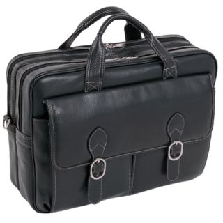 McKlein 15565 Black Leather Laptop Case