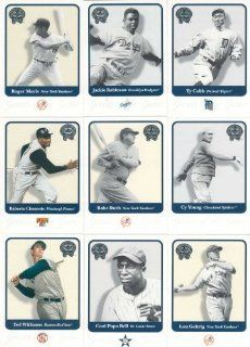 2001 Fleer Greats of the Game Baseball Complete Mint Hand Collated 137