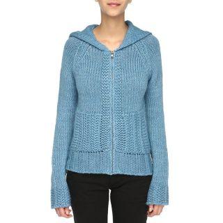 Modèle Mabbit   Coloris  bleu. Pull à capuche, manches longues