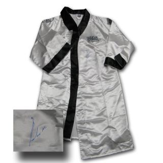Muhammad Ali Autographed Everlast Black and White Boxing Robe