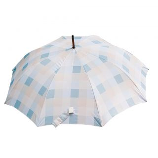 Laura Ashely Mitford Check Duck Egg Umbrella