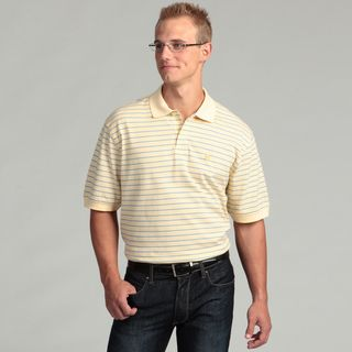 Izod Mens Oxford Pique Feeder Stripe Polo Shirt
