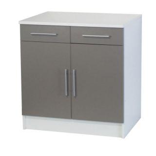 TRENDY 4 élément bas 2 portes 2 tiroirs L80 cm   Achat / Vente PETIT