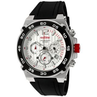 Red Line Mens Activator Black Silicone Watch