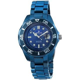 Invicta Mens Metallic Blue Ceramic Watch