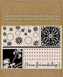 Card Art True Friendship Wood Mounted Rubber Stamp Kit