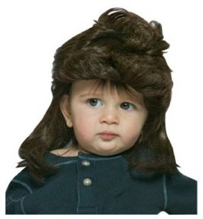 Mullet (Brown) Wiggie Baby Wig Halloween Costume Accessory