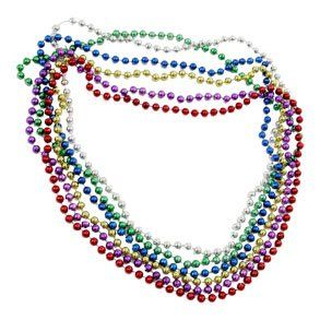 144 Mardi Gras Beads (7mm mardi gras necklaces) Toys