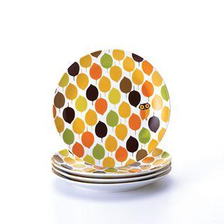 Rachael Ray Little Hoot 4 piece Salad Plate Dinnerware Set
