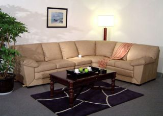 Taupe 6 seat Leather Sectional Sofa