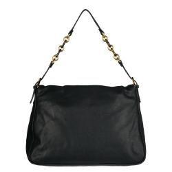 Fendi Black Forever Big Mama Leather Shoulder Bag