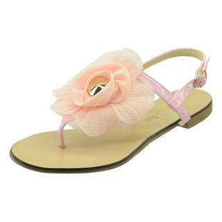 Ann Creek Womens Largo Pink Floral Sandals
