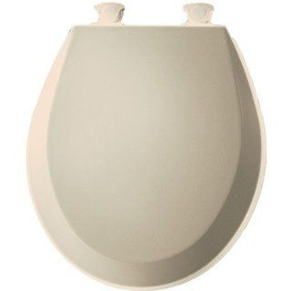 Bemis 500EC146 Molded Wood Round Toilet Seat With Easy Clean and