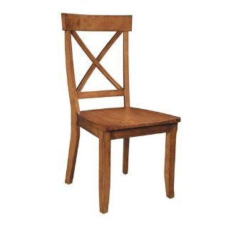 Home Styles 5179 802 Dining Chairs, Cottage Oak, Set of 2