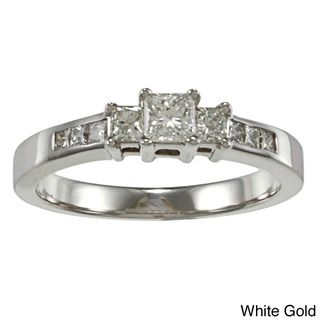 14k Gold 1/2ct TDW Princess Diamond Engagement Ring (I J, I1 I2