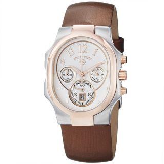 Philip Stein Womens Signature Silver Dial Two Tone Quartz Watch