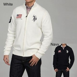 US Polo Mens Full Zip Sweater FINAL SALE