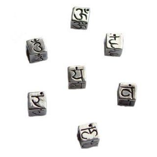 Sterling Silver Chakra Bead or Charm Set for Necklace or